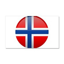 Norway Button Car Magnet 20 x 12