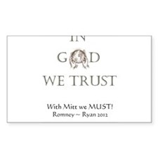 In God We Trust. With Mitt We Must! Decal