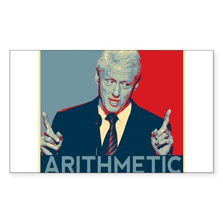 Bill Clinton - Arithmetic Sticker (Rectangle)