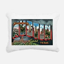 City Of Austin Postcard Rectangular Canvas Pillow