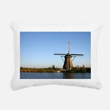 Dutch windmill Rectangular Canvas Pillow