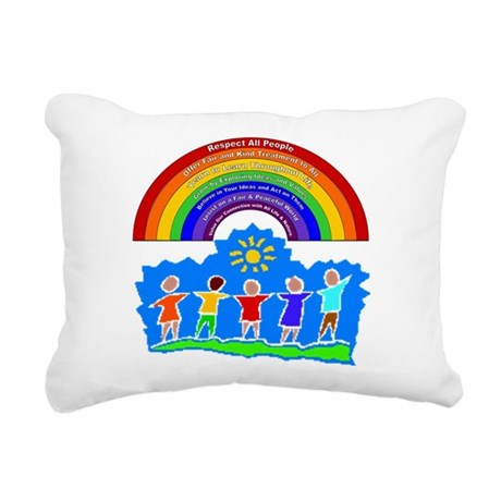 Rainbow Principles Kids Rectangular Canvas Pillow