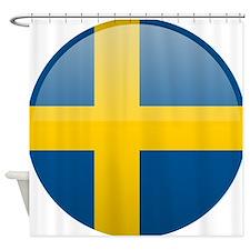 Swedish Button Shower Curtain