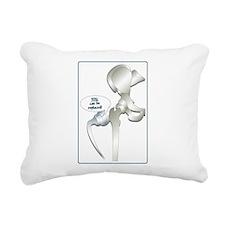 Cute Hip replacement Rectangular Canvas Pillow