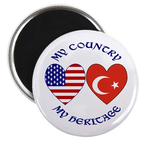 "Turkey Country Heritage 2.25"" Magnet (100 pack)"