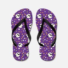 Halloween Bats and Stars Flip Flops