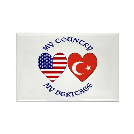 Turkey Country Heritage Rectangle Magnet