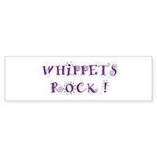 Whippets Rock Bumper Bumper Sticker