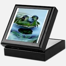 Frog Watching you Watching Me Keepsake Box