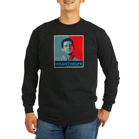 Paul Ryan - MIsanthrope Long Sleeve Dark T-Shirt