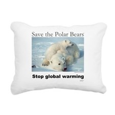 Cute Polar bears Rectangular Canvas Pillow