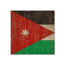 "Vintage Jordan Flag Square Sticker 3"" x 3"""