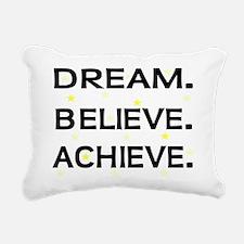 DREAM BELIEVE ACHIEVE Rectangular Canvas Pillow