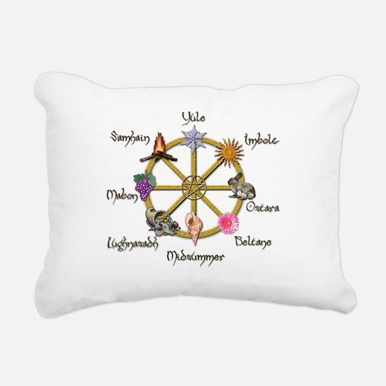 Wheel of the Year 1 Rectangular Canvas Pillow