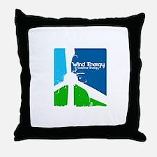 Wind energy creavtive Throw Pillow