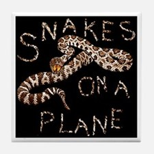 Snakes on a Plane - movie thriller Tile Coaster