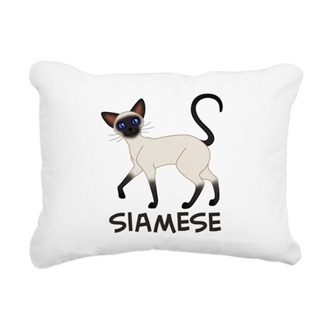 Seal Point Siamese Rectangular Canvas Pillow
