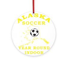 Alaska Soccer Ornament (Round)