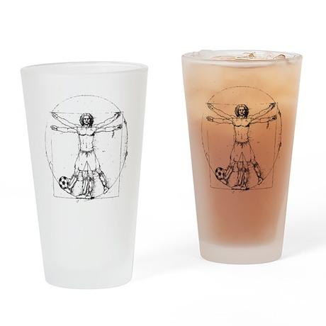 Da Vinci Soccer Drinking Glass