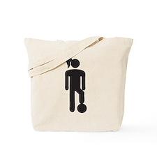 Female Soccer Player Tote Bag