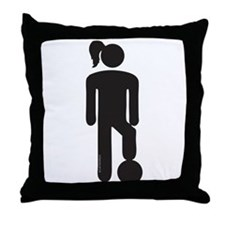 Female Soccer Player Throw Pillow