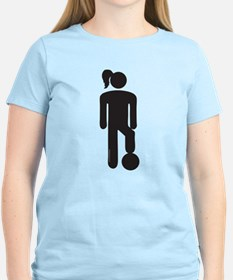 Female Soccer Player T-Shirt
