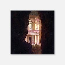 """Frederick Edwin Church Petra Square Sticker 3"""" x 3"""