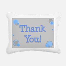 Thank You (grey & blue) Rectangular Canvas Pillow