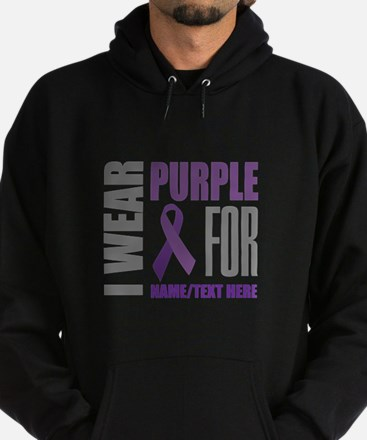 Purple Awareness Ribbon Customized Hoodie (dark)