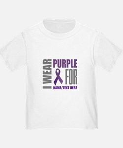 Purple Awareness Ribbon Customized T