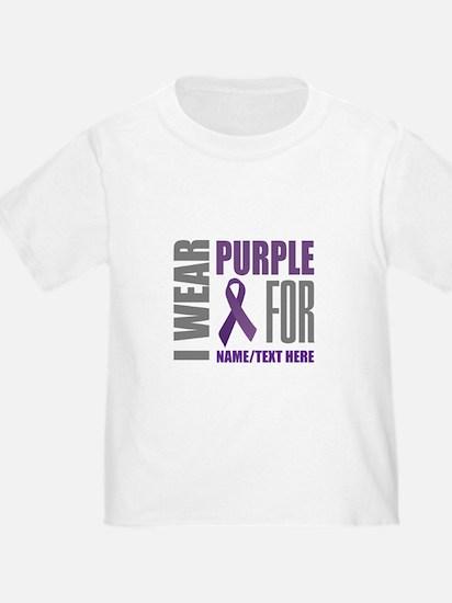 Purple Awareness Ribbon Customized T