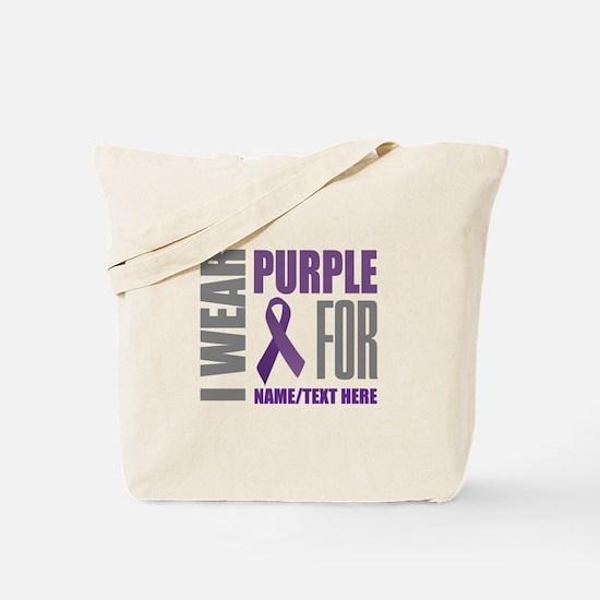 Purple Awareness Ribbon Customized Tote Bag