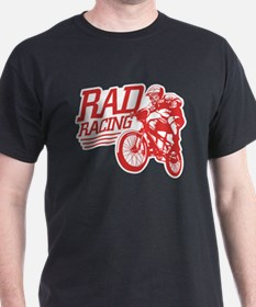 Retro RAD BMX Racing Black T-Shirt