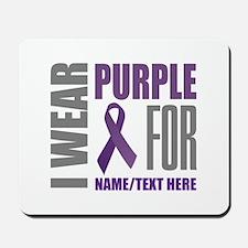 Purple Awareness Ribbon Customized Mousepad
