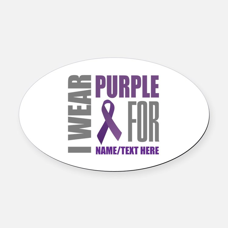 Pancreatic Cancer Awareness Car Magnets Personalized Pancreatic - Custom awareness car magnet