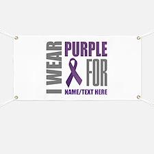 Purple Awareness Ribbon Customized Banner