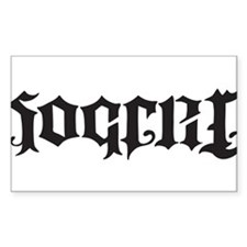 Soccer Futbol Ambigram black Decal