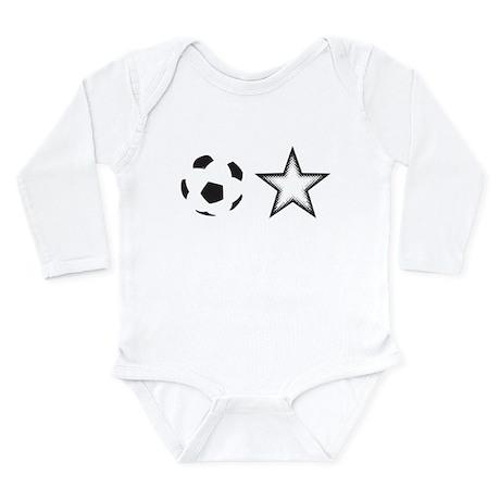 Soccer Star Long Sleeve Infant Bodysuit