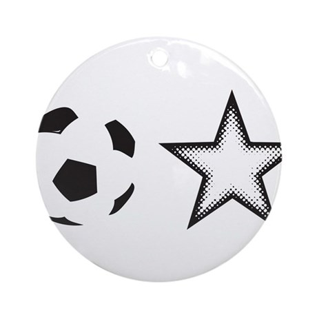 Soccer Star Ornament (Round)
