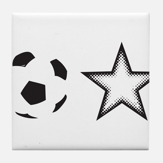 Soccer Star Tile Coaster