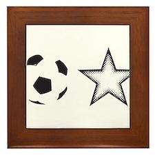 Soccer Star Framed Tile