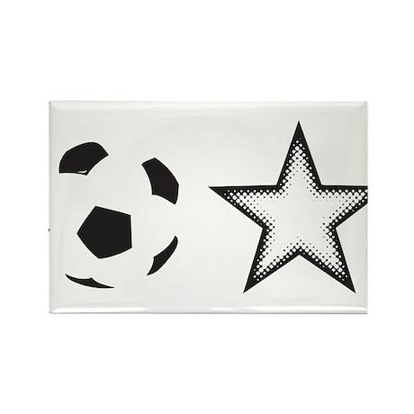 Soccer Star Rectangle Magnet