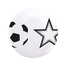 "Soccer Star 3.5"" Button"
