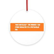 The Official Nick Nostalgia Slogan Ornament (Round