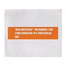 The Official Nick Nostalgia Slogan Throw Blanket