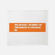 The Official Nick Nostalgia Slogan Throw Blanket
