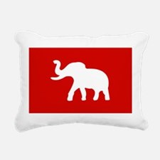 USA Elephant Rectangular Canvas Pillow