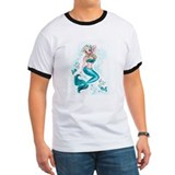 Mermaid vintage Ringer T