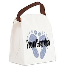 Proud Grandpa (Boy!) Canvas Lunch Bag