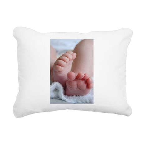 Baby Feet Rectangular Canvas Pillow